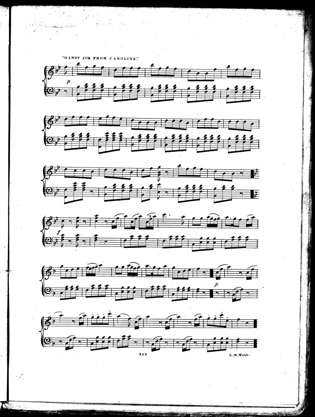 Virginia minstrel's quick step