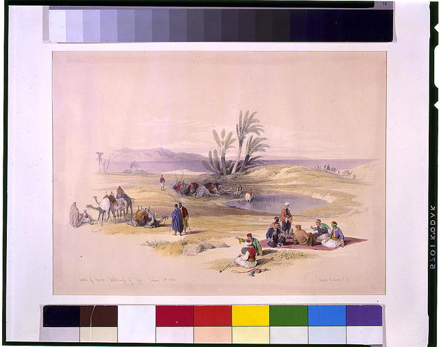 Wells of Moses wilderness of Tyn February 12th 1839 / David Roberts, R.A.