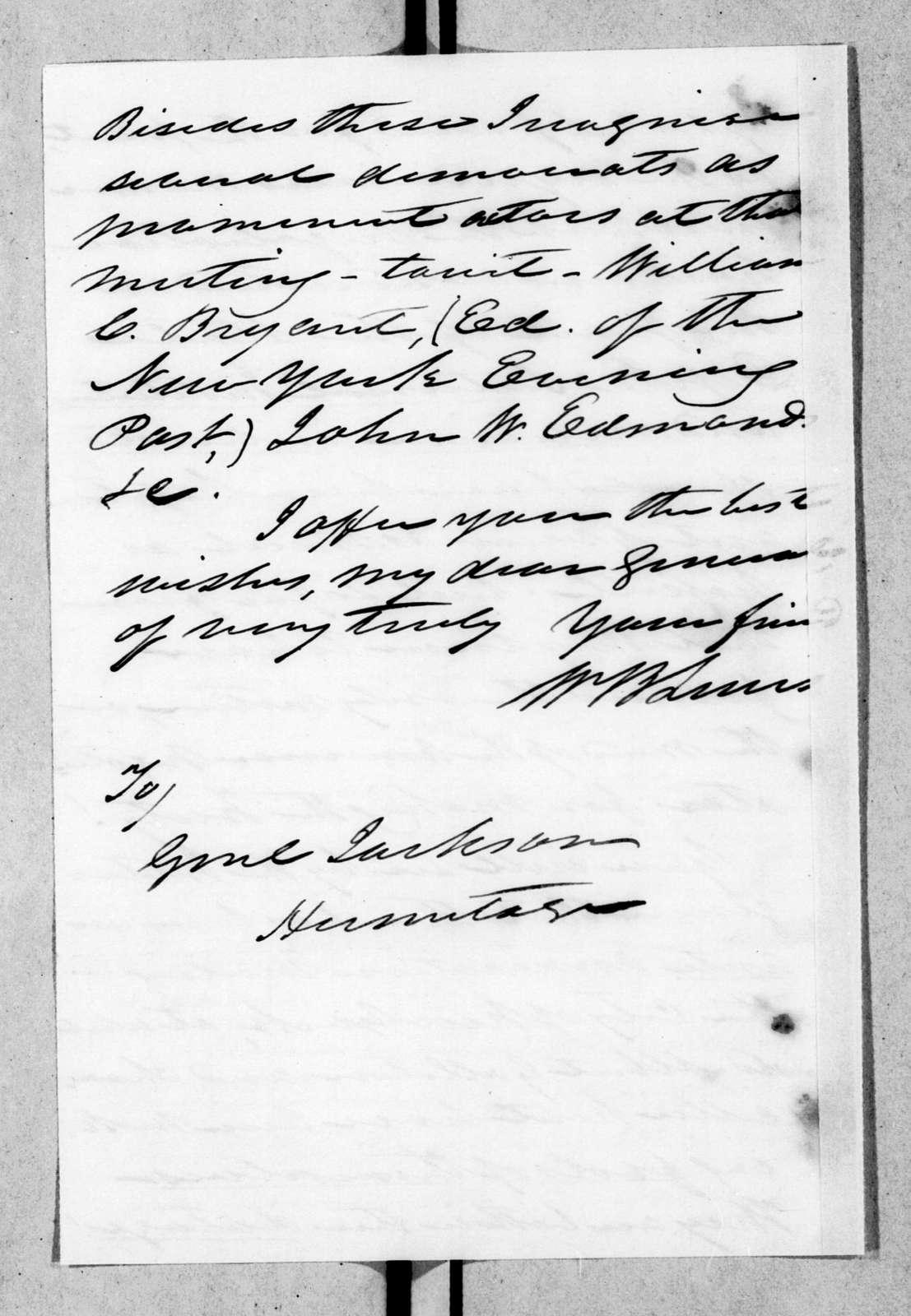 William Berkeley Lewis to Andrew Jackson, April 27, 1844