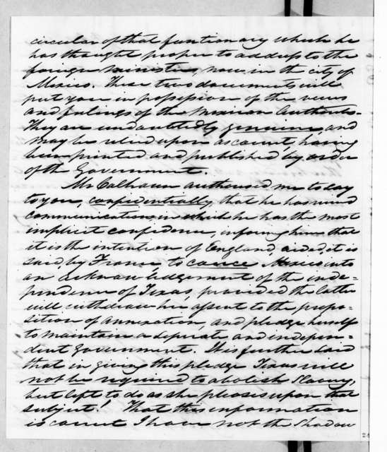 William Berkeley Lewis to Andrew Jackson, July 19, 1844
