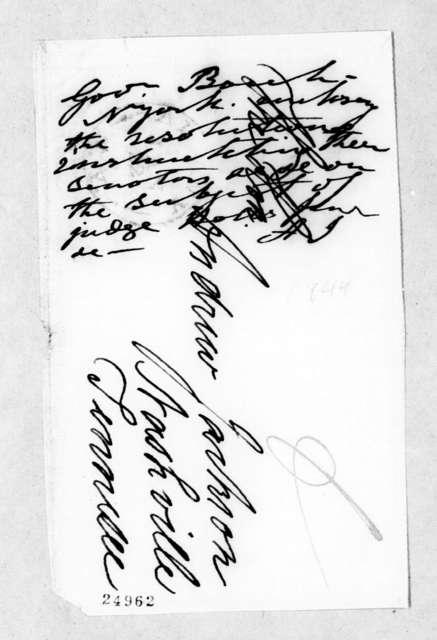 William C. Bouck to Andrew Jackson, January 12, 1844