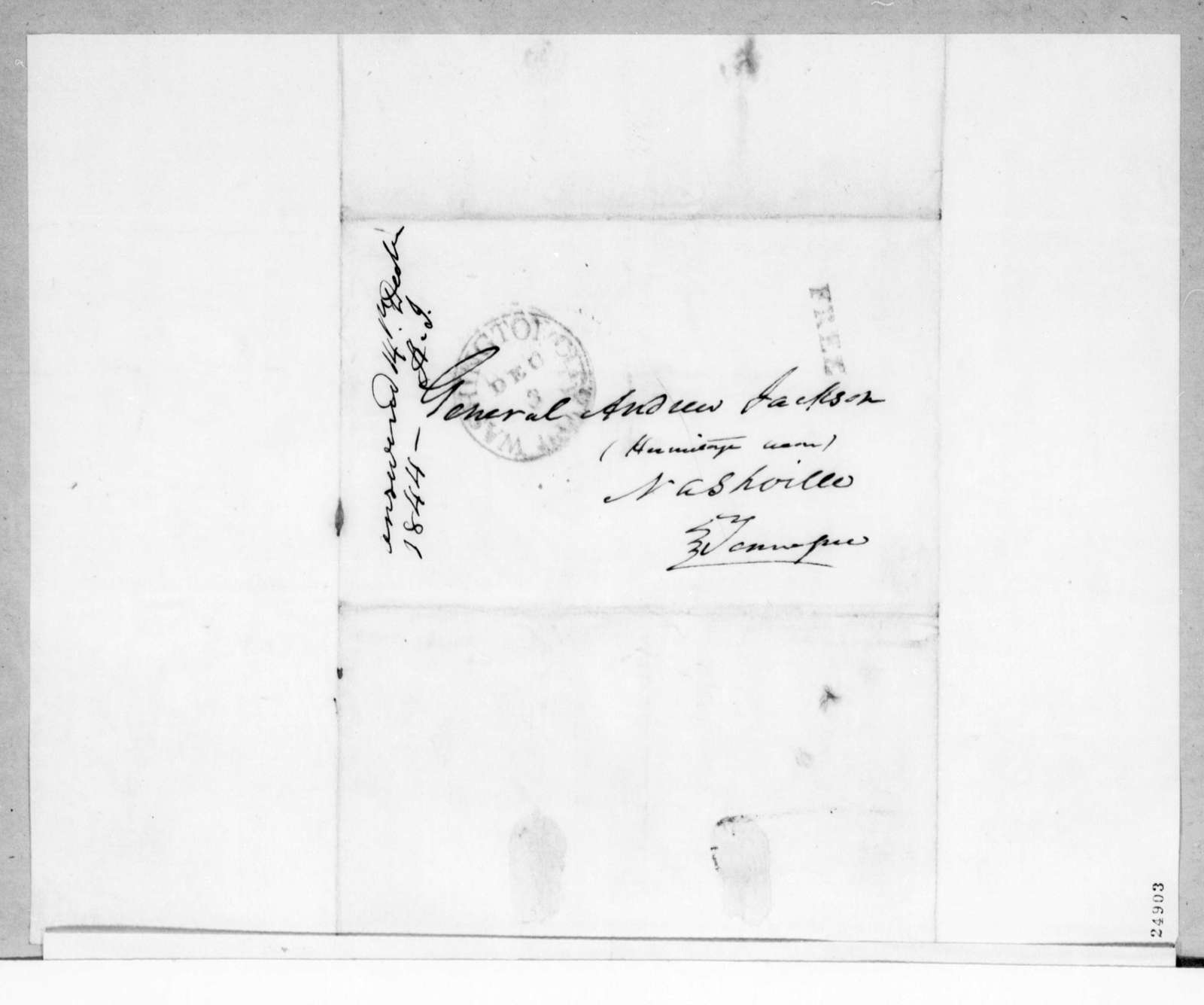William S. Parrott to Andrew Jackson, December 14, 1844