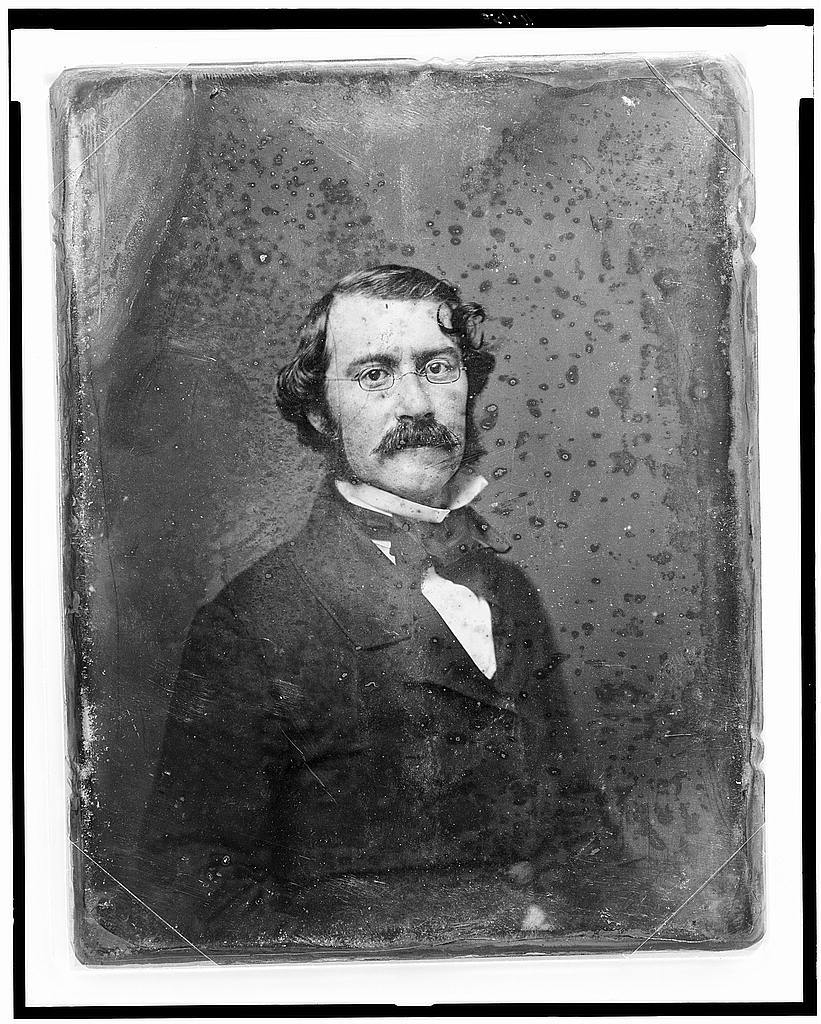 [Xavier Donald MacLeod, half-length portrait, nearly facing front, with mustache and spectacles]