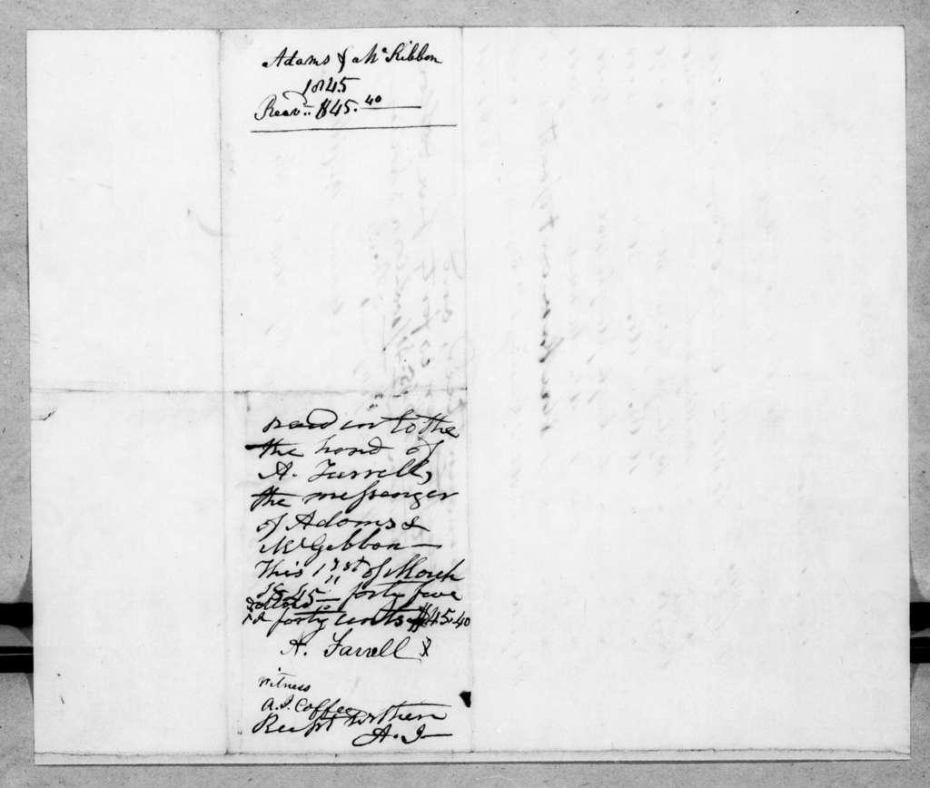 Adams & McKiblen to Andrew Jackson, March 1, 1845