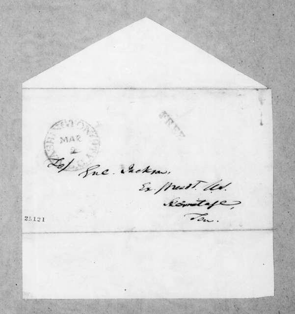 Andrew Jackson Donelson to Andrew Jackson, March 1, 1845