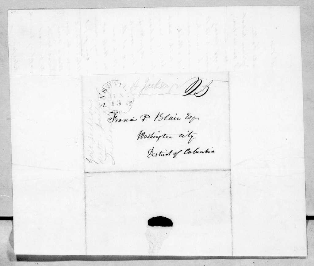 Andrew Jackson, Jr. to Francis Preston Blair, June 10, 1845