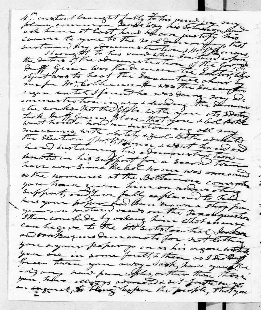 Andrew Jackson to Francis Preston Blair, April 9, 1845