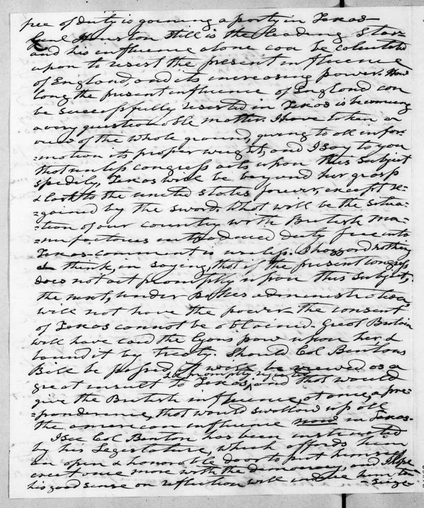 Andrew Jackson to Francis Preston Blair, January 1, 1845