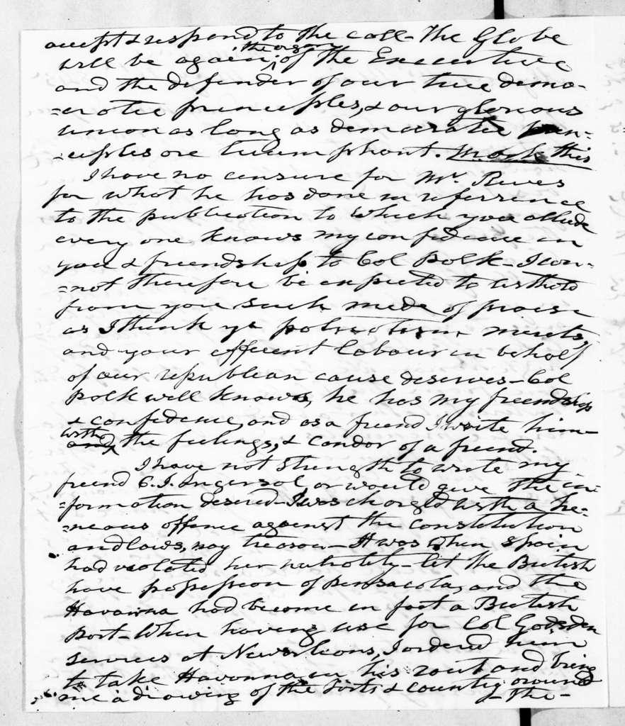 Andrew Jackson to Francis Preston Blair, May 26, 1845