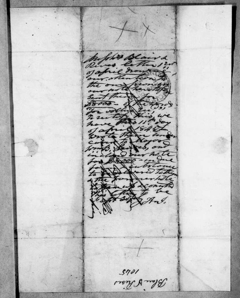 Blair & Rives to Andrew Jackson, April 1, 1845
