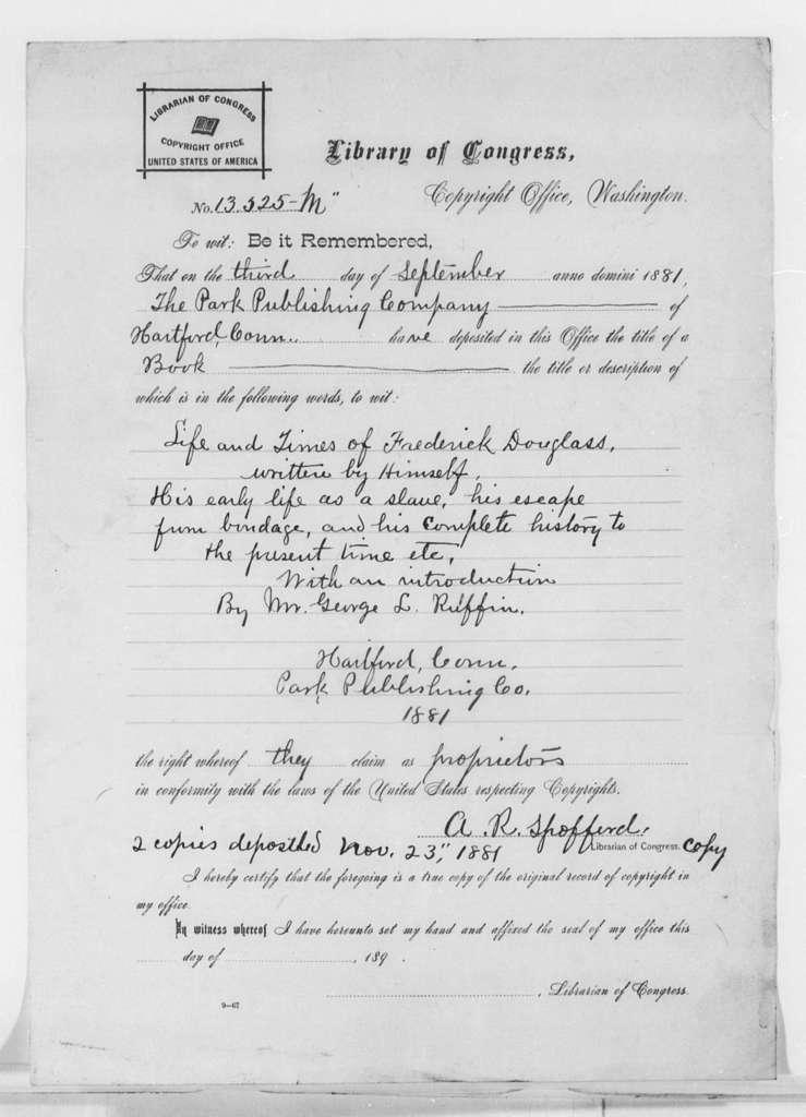 Copyrights, 1845-1881