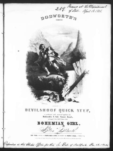 Devilshoof quick step [from] Bohemian Girl