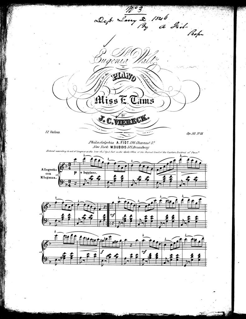 Eugenia waltz, op. 50, no. 11