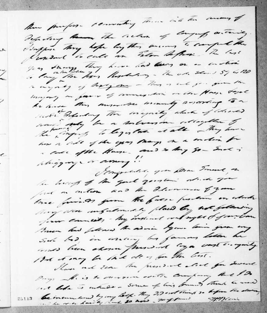 Francis Preston Blair to Andrew Jackson, February 28, 1845