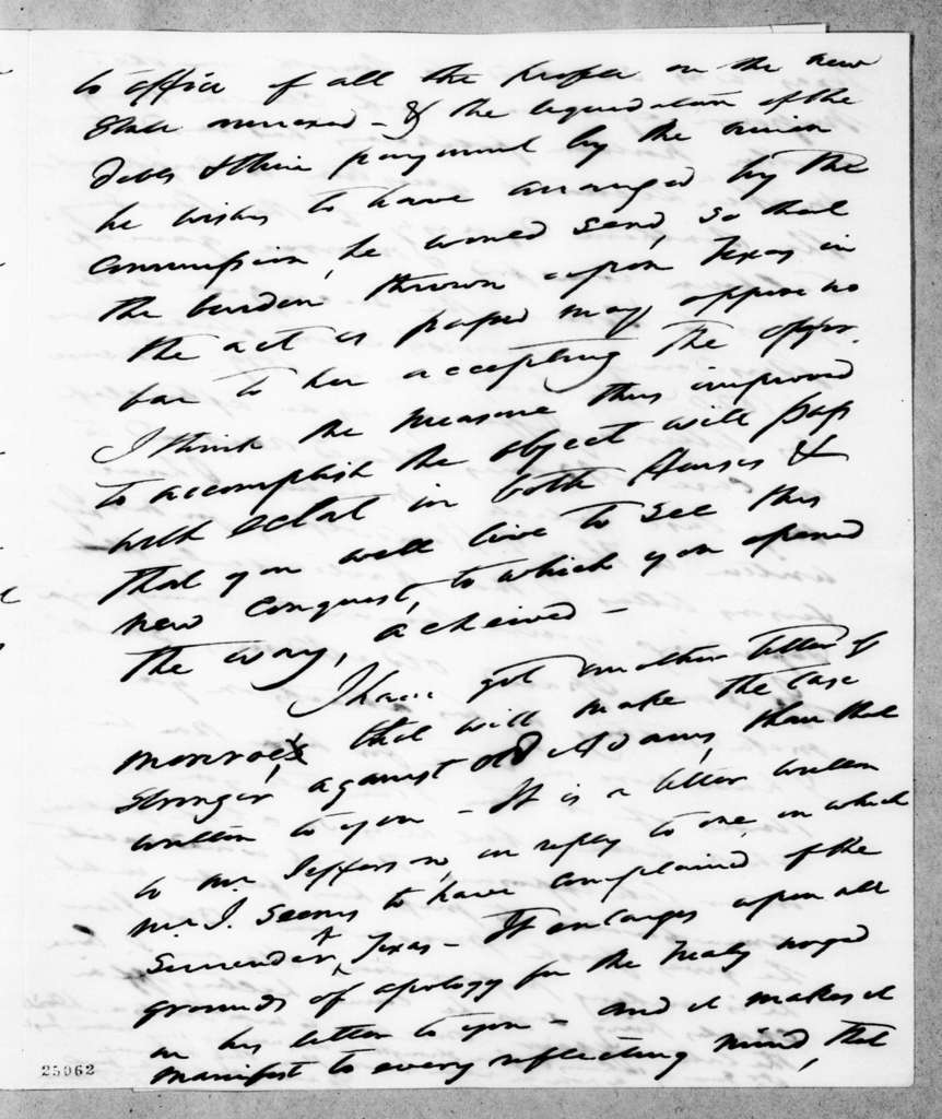 Francis Preston Blair to Andrew Jackson, January 30, 1845