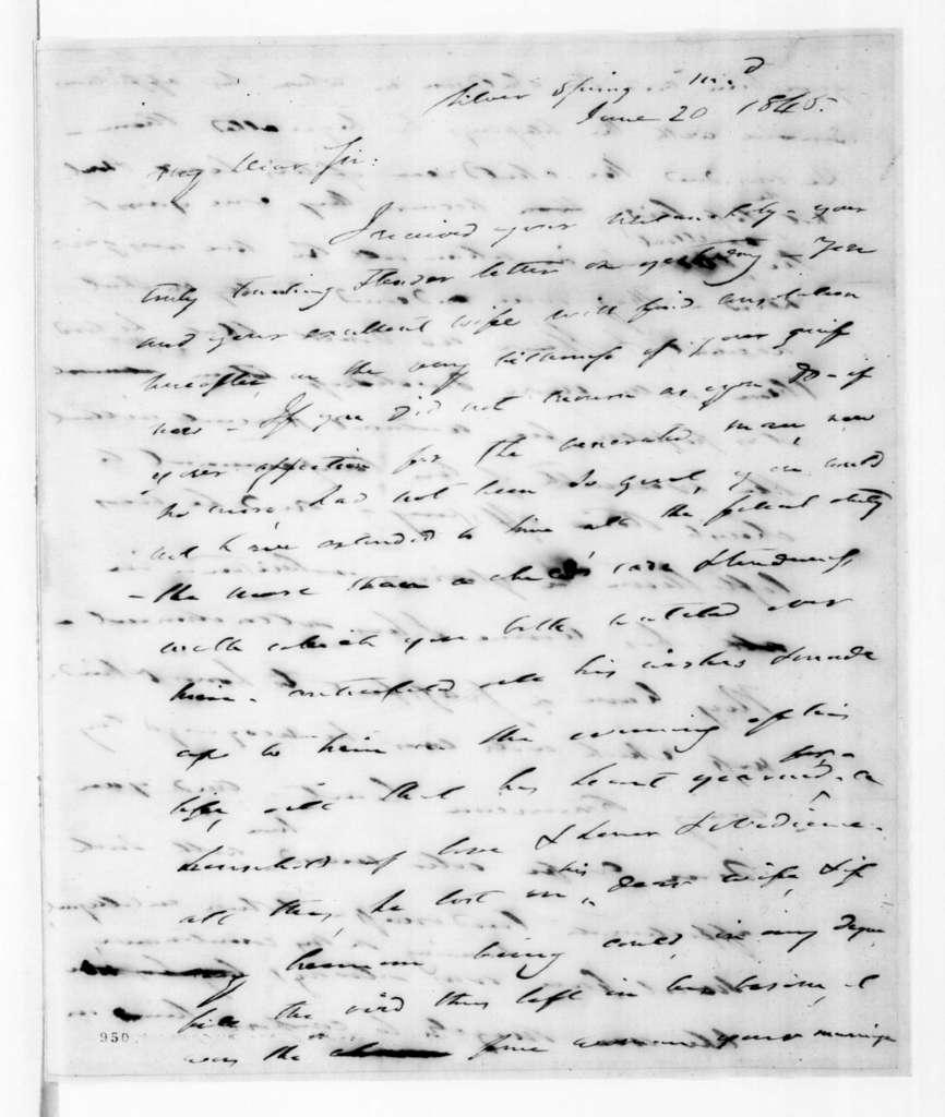Francis Preston Blair to Andrew Jackson, Jr., June 20, 1845