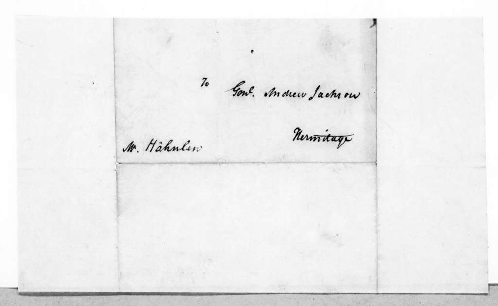 Francis Rawn Shunk to Andrew Jackson, March 26, 1845