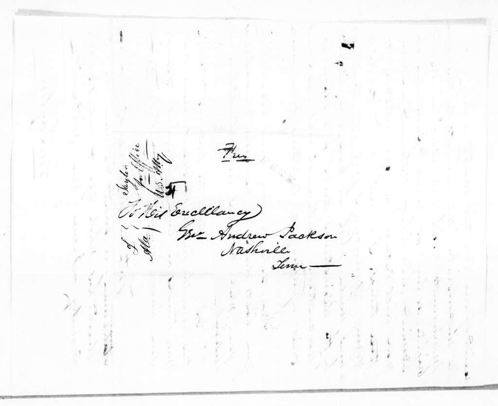 George Tayler to Andrew Jackson, April 21, 1845