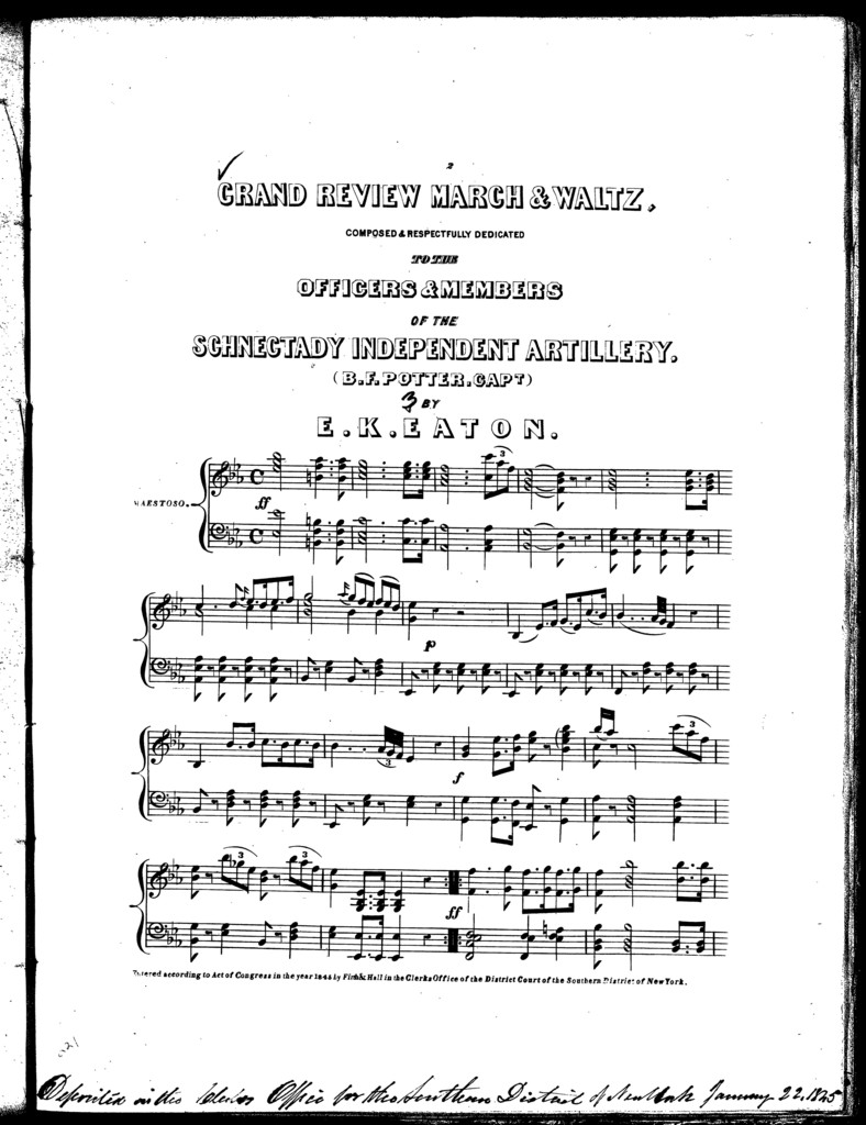 Grand review march and waltz