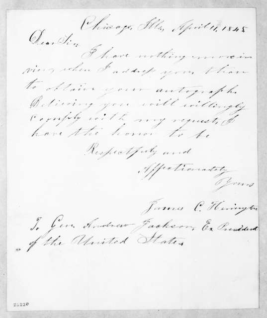 James C. Herrington to Andrew Jackson, April 11, 1845