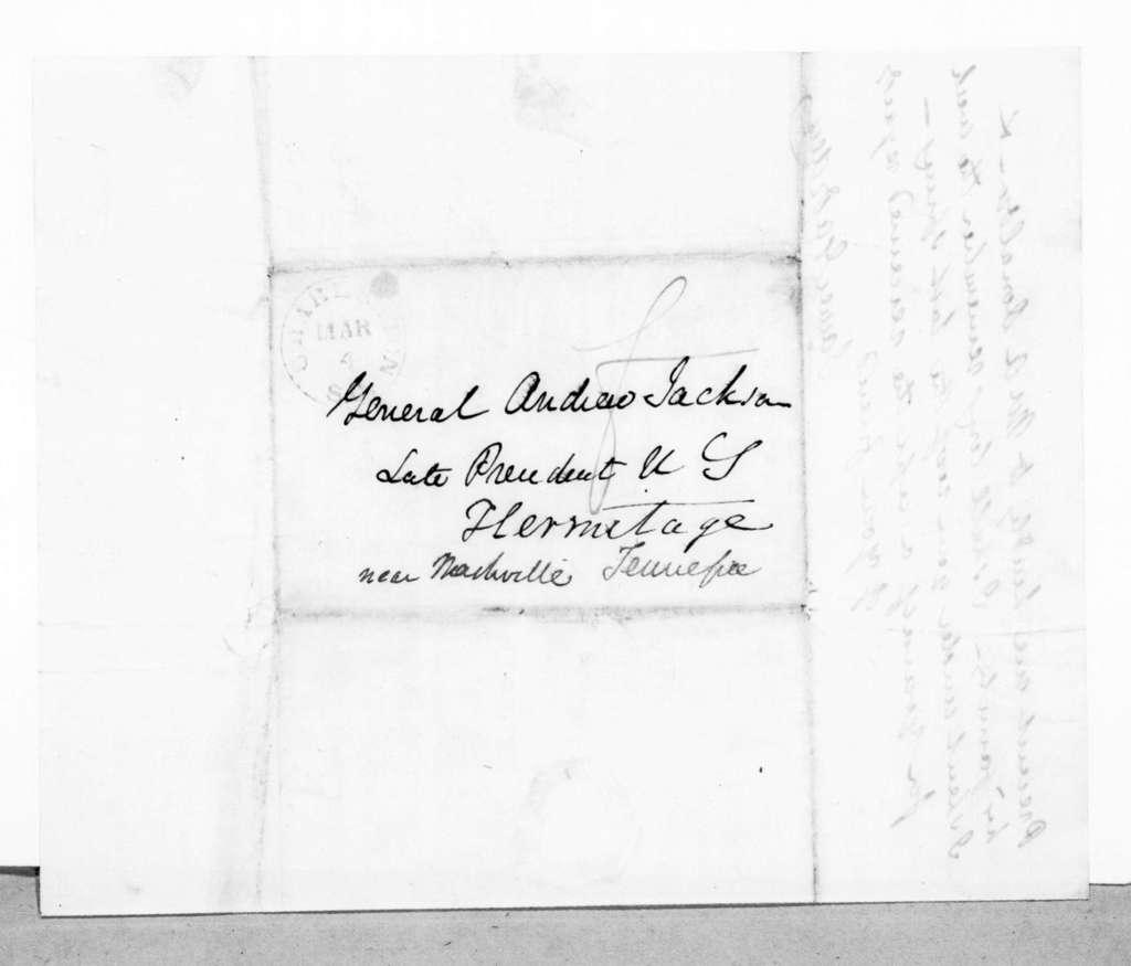 James Gadsden to Andrew Jackson, March 4, 1845