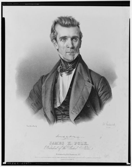 James K. Polk, President of the United States / From life on stone by Ch. Fenderich 1845.