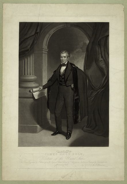James Knox Polk, President of the United States / engraved by J. Sartain from the original picture painted by T. Sully, Junr.