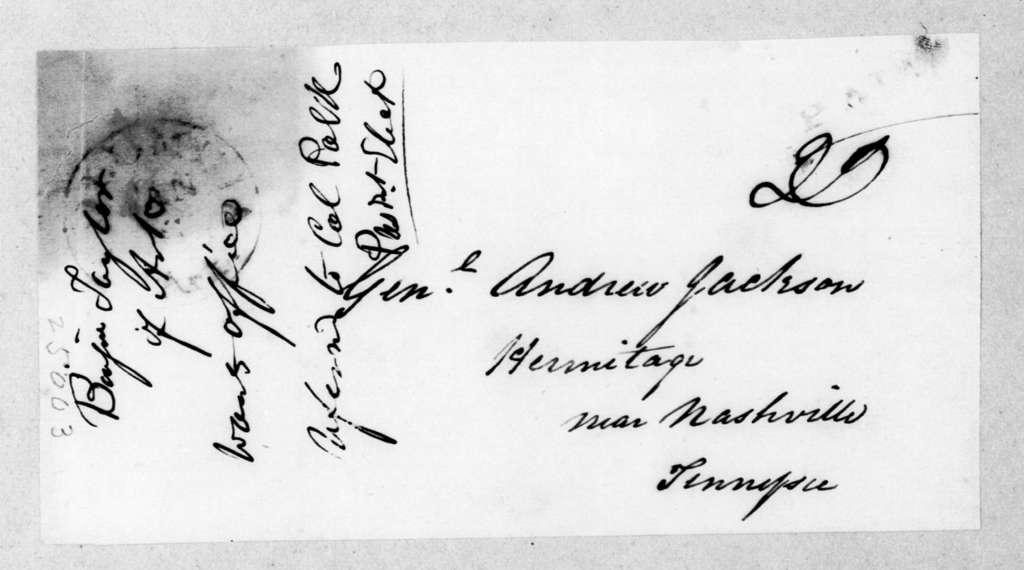 James Knox Polk to Andrew Jackson, January 5, 1845
