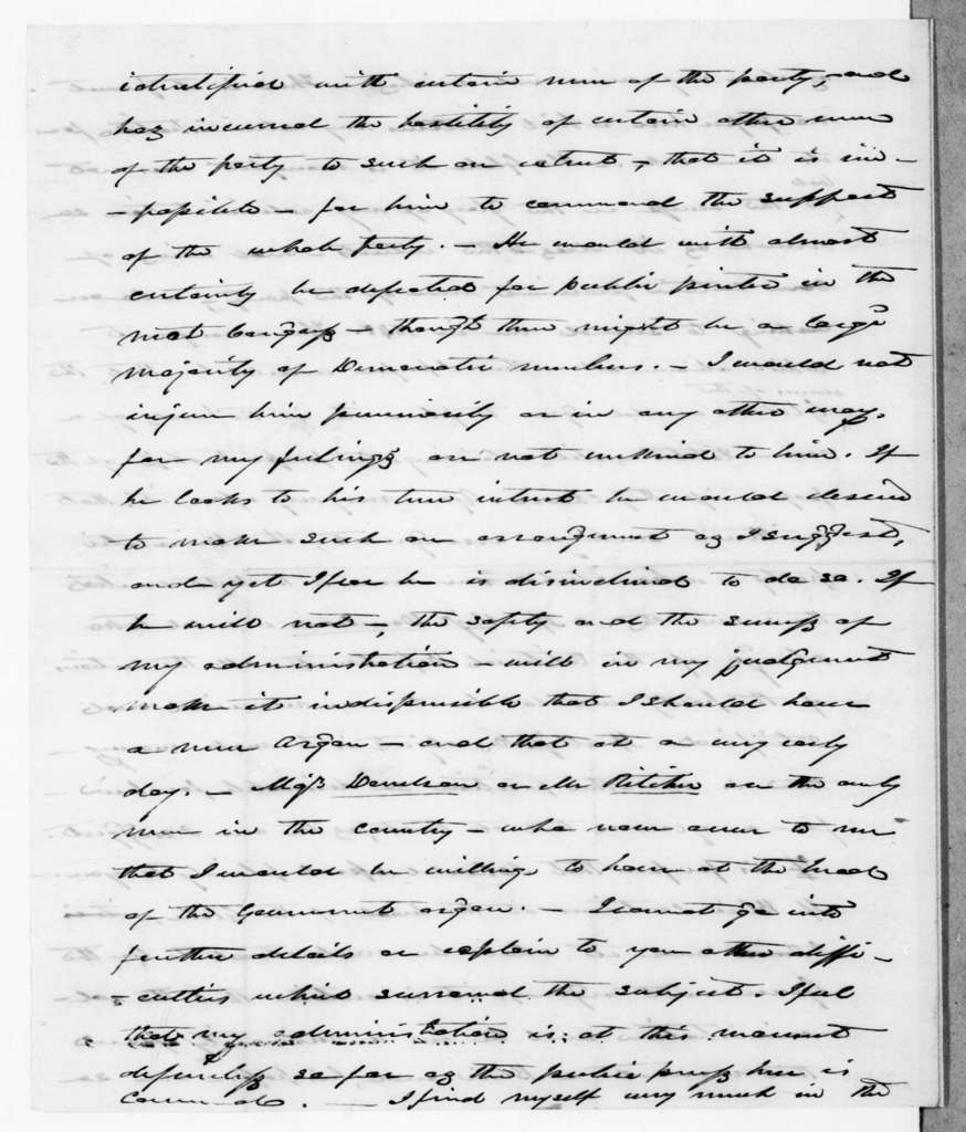 James Knox Polk to Andrew Jackson, March 17, 1845
