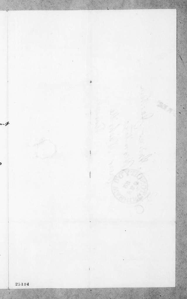 James Maher to Andrew Jackson, February 21, 1845