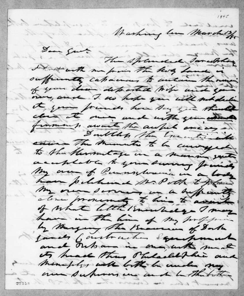 Jesse Duncan Elliott to Andrew Jackson, March 12, 1845
