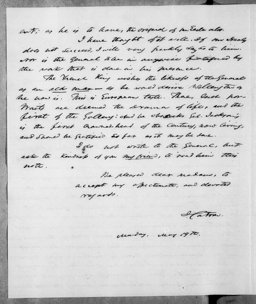 John Catron to Sarah Yorke Jackson, May 19, 1845