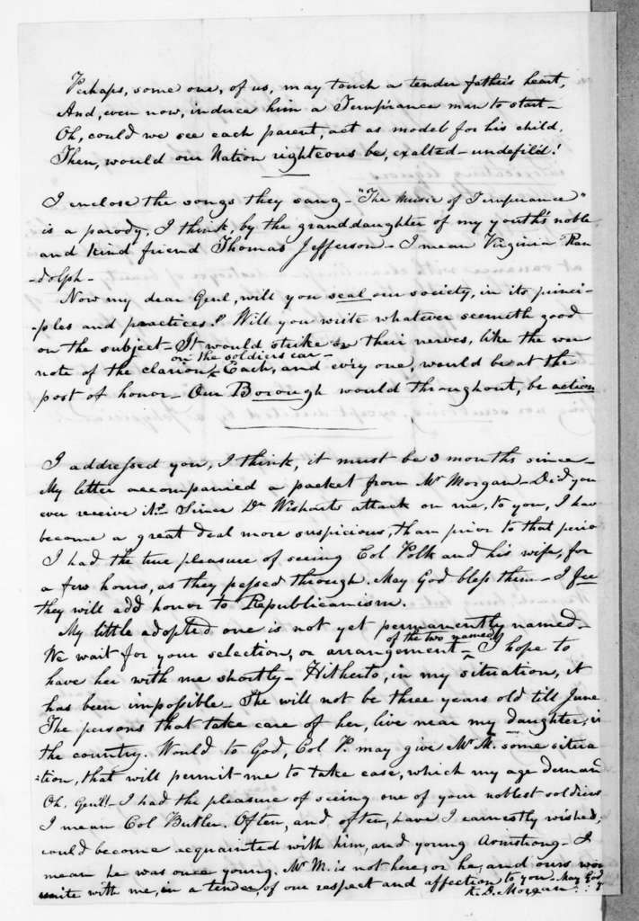 Katherine Duane Morgan to Andrew Jackson, March 22, 1845