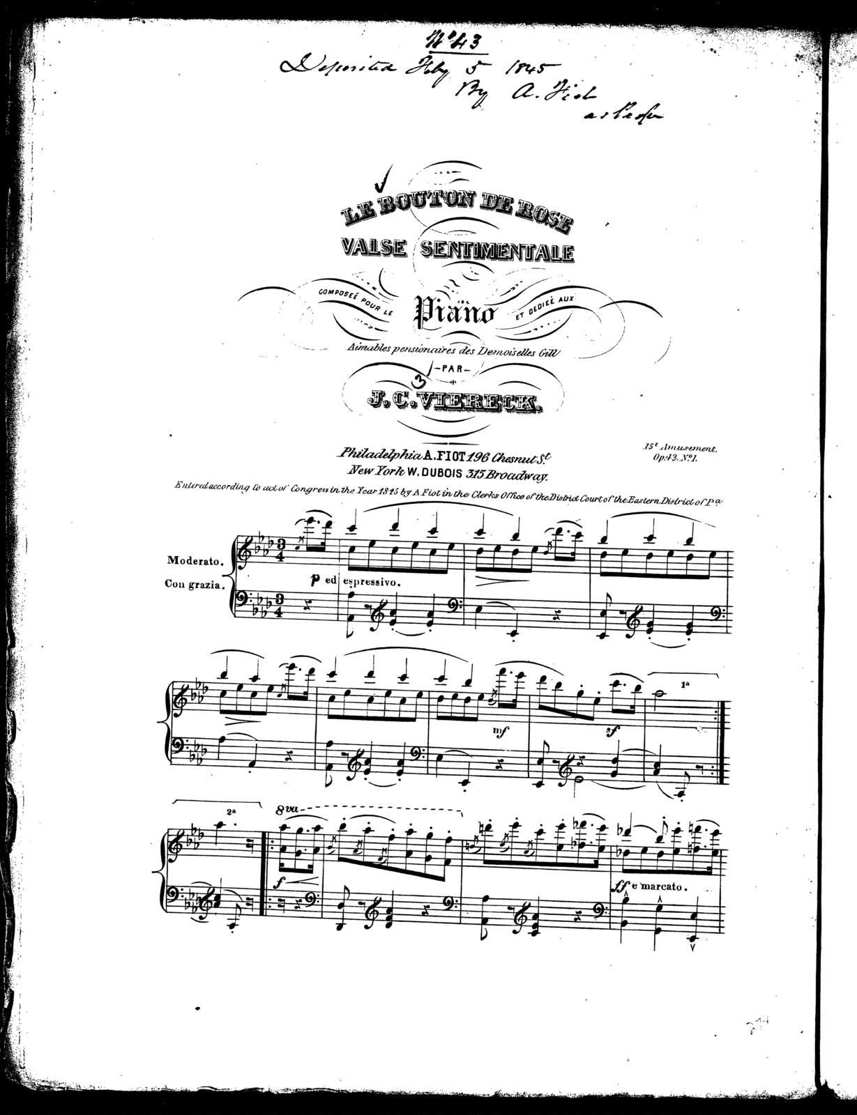 Le  bouton de rose, op. 42, no. 1