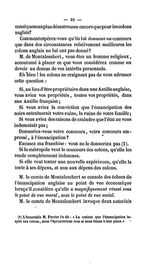Les colonies françaises devant la Chambre des pairs. Analyse de la discussion générale du Projet de loi sur le régime colonial,