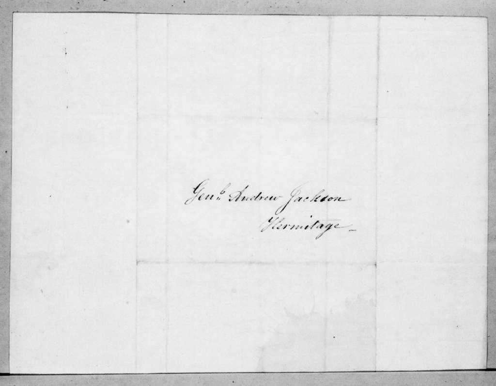 M. F. McKeever to Andrew Jackson, January 6, 1845