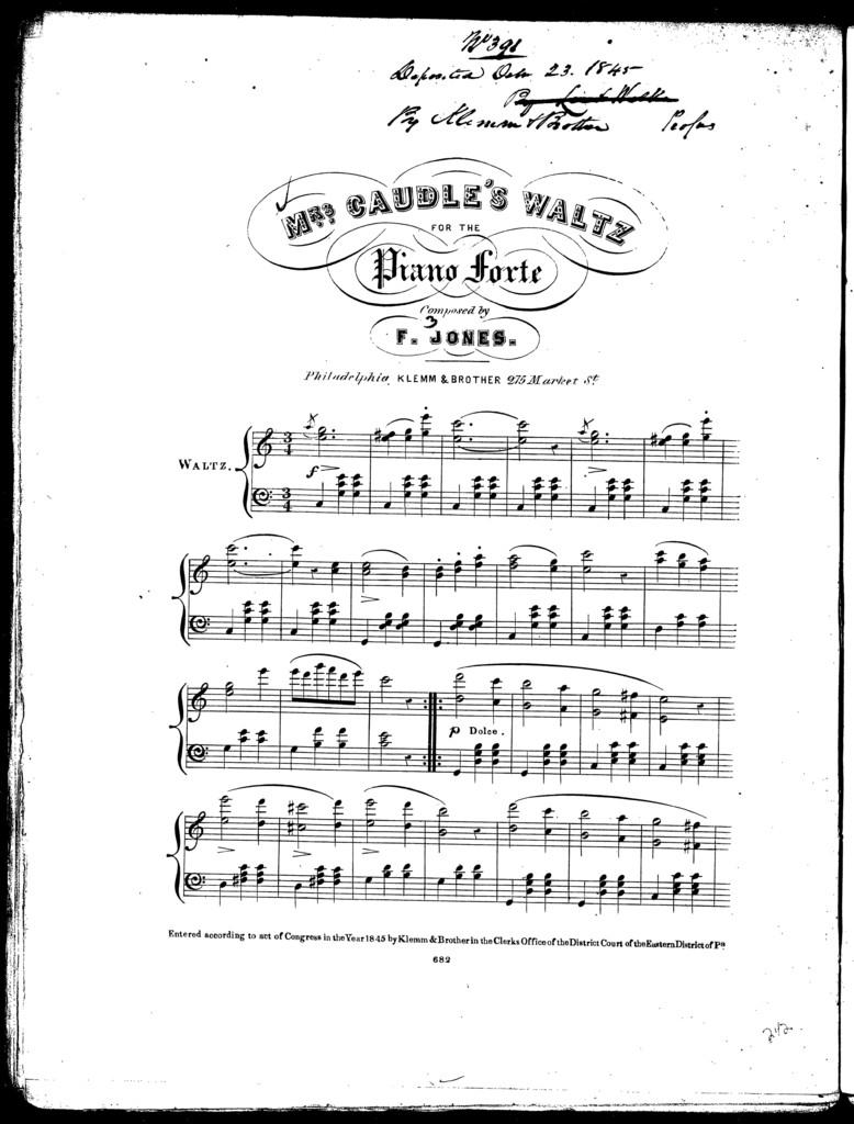 Mrs. Caudle's waltz