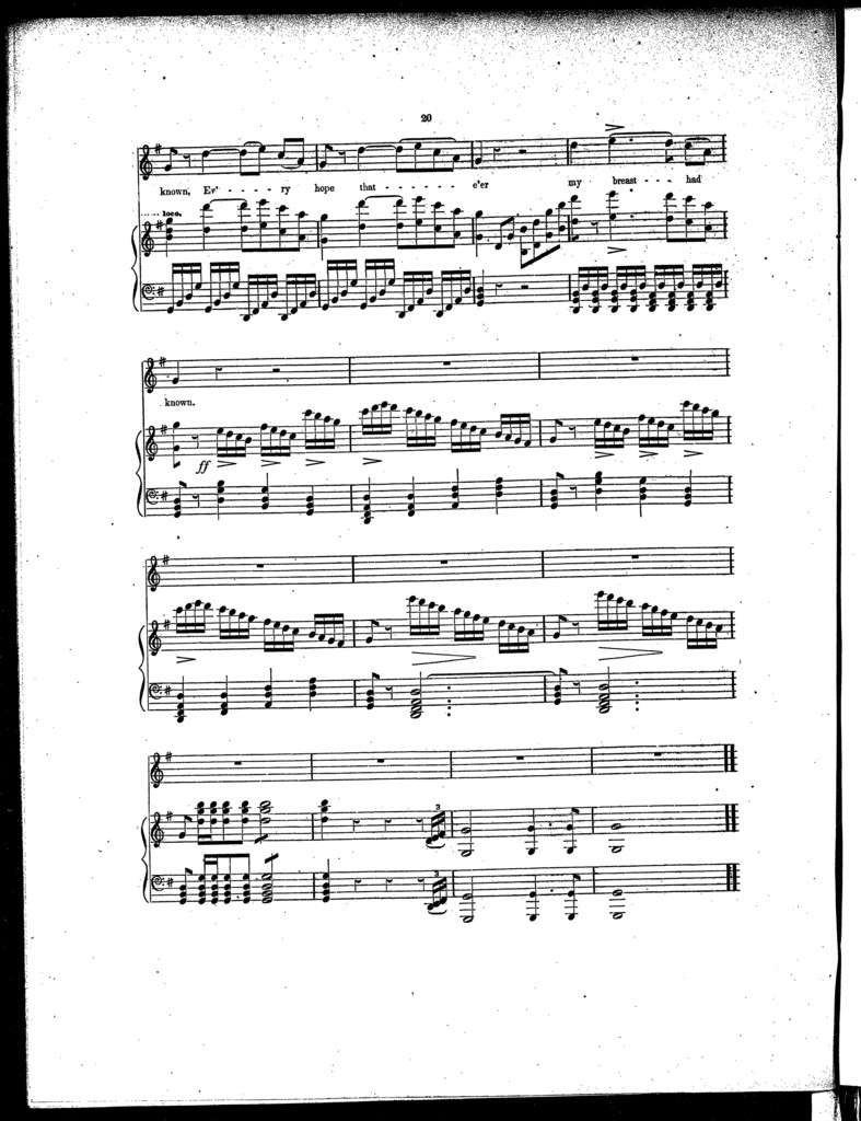 My every thought, cavatina [from] Leonora, part II