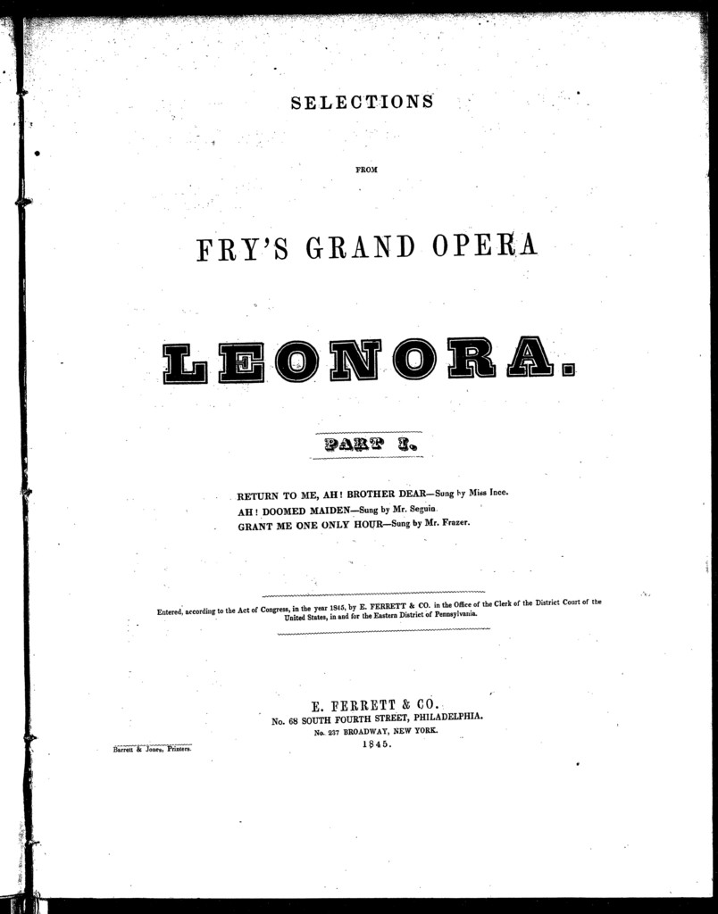 Return to me, ah brother dear, romance [from] Leonora, part I