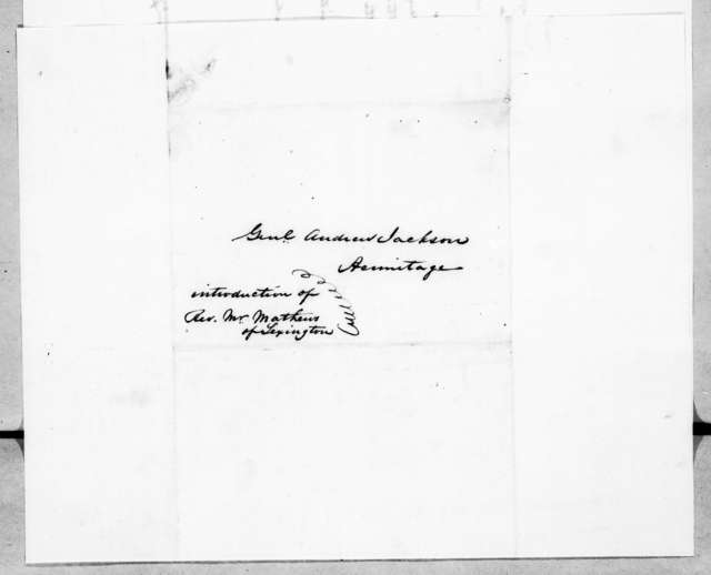 Richard Owen Currey to Andrew Jackson, April 24, 1845
