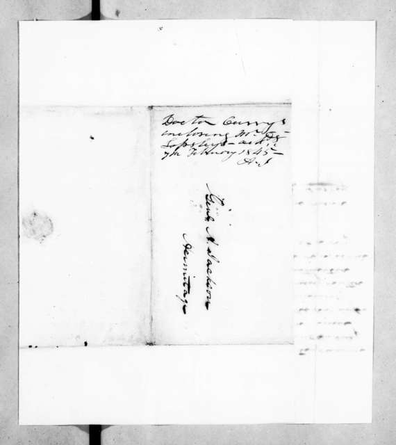 Richard Owen Currey to Andrew Jackson, February 6, 1845