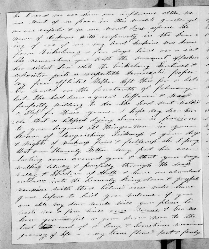 Sarah Knox Sevier to Andrew Jackson, May 27, 1845