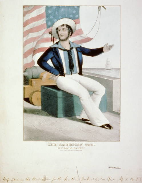 """The American tar. """"Don't give up the ship"""""""