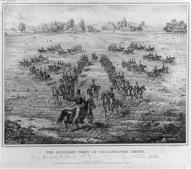 The artillery corps of Philadelphia  greys, company D., comd. by Capt. Geo. Cadwalader