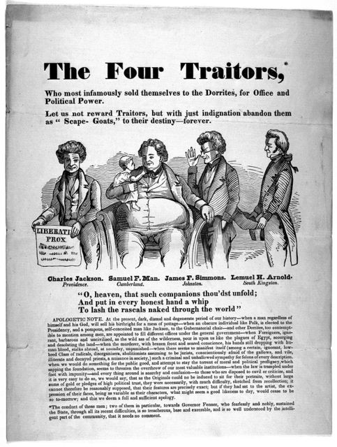 The four traitors, who most infamously sold themselves to the Dorrites for office and political power