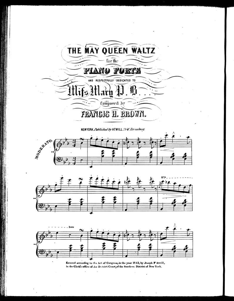The  May queen waltz