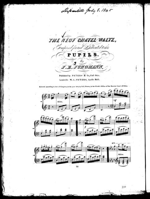 The  neuf chatel waltz