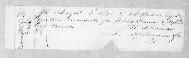 Thomas Freeman to Andrew Jackson, Jr., August 2, 1845