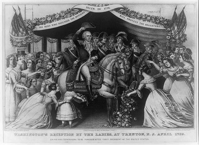 Washington's reception by the ladies, at Trenton, N.J. April 1789