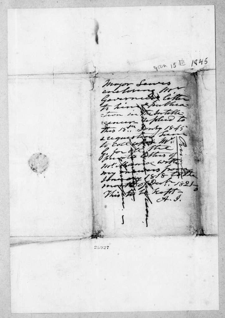 William Berkeley Lewis to Andrew Jackson, January 15, 1845